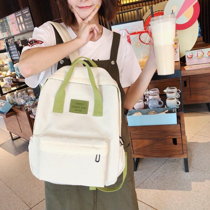 Lightweight High School Student Girls School Bag Large Capacity Children Backpack Women Bags Kids Travel Backpack Knapsack