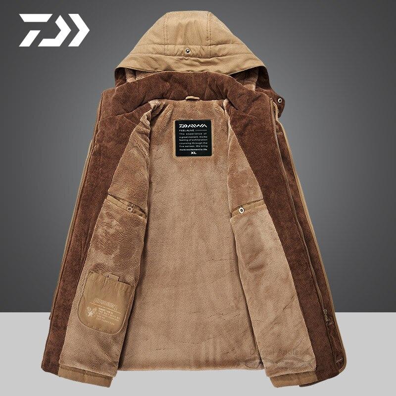termica jaqueta de pesca com capuz ziper a prova vento roupas pesca 04