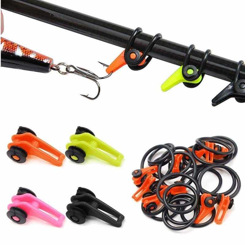 US 10 Pcs Plastic Fishing Hook Keeper Fishing Rod Pole Fishing Hook Bait Safety