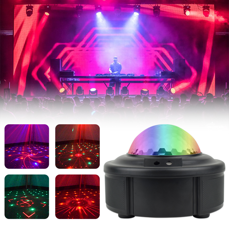 90 Patterns RGB LED Disco Light AC110-240V Red Green Laser Projection Lamp Stage Lighting Show For Home Party KTV DJ Dance Floor