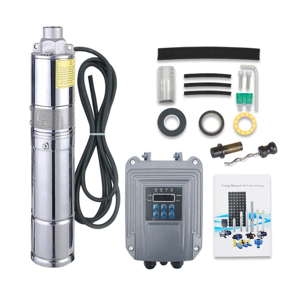 0.5m3/h Solar Water Pump in Sudan 48 V DC Submersible Solar Pump Solar Panel Kits for Pomp