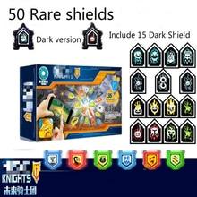 Nemoe cavaleiros escudos raros modelo blocos de construção castelo guerreiro nexus scannable jogo brinquedos para crianças