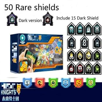 цена на Nexoe Knights Rare Shields Model Building Blocks Castle Warrior  Nexus Scannable Game Toys For Children