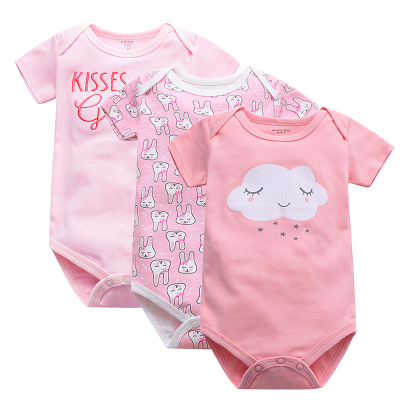 Newborn Bodysuit Baby Babies Bebes Clothes Short Sleeve Cotton Printing Infant Clothing 1pcs 0-24 Months