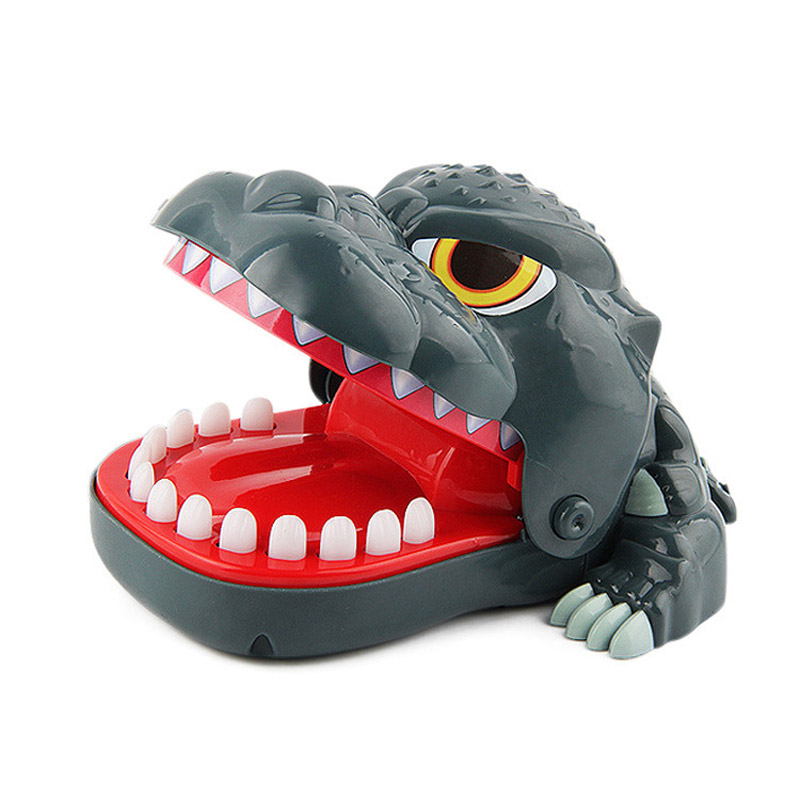 L Size Biting Dinosaur Lucky Monster Joke Gadgets Party Travel Game For Kids Children Adult Family Halloween Toy Game