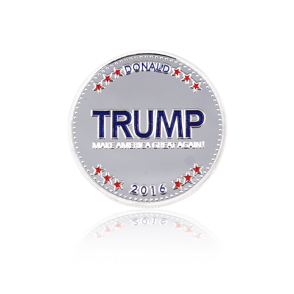 Venta caliente Trump Coin 24k Silver Plated Silver Coin The American - Decoración del hogar - foto 4