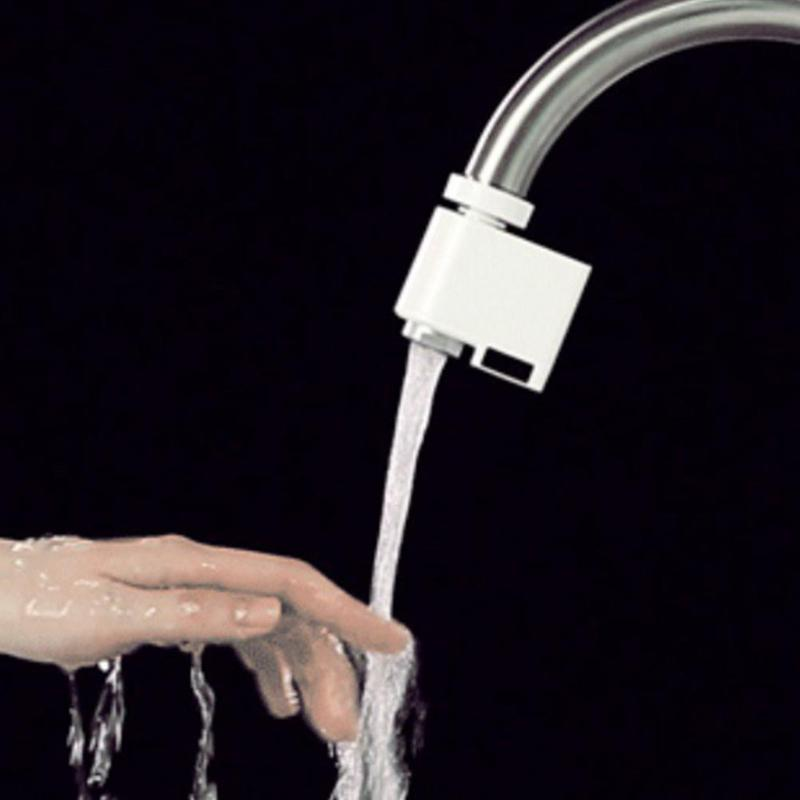 Sink Faucet Water Economizer Automatic Sense Stainless Steel Infrared Induction Water Saving Device Kitchen Accessories