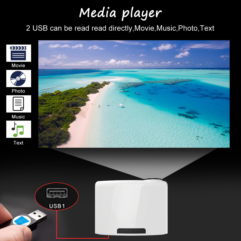Touyinger S1080 C2 Full HD 1080P LED Projector ( 4K video Android 9 Wifi optional) Smart Home Theater AC3 200 inch 4D Keystone 4