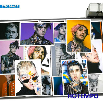 25pcs Rapper Star Lil Peep Part One Art Posters Style Fashion Stickers for Mobile Phone Laptop Luggage Skateboard Decal - discount item  40% OFF Classic Toys