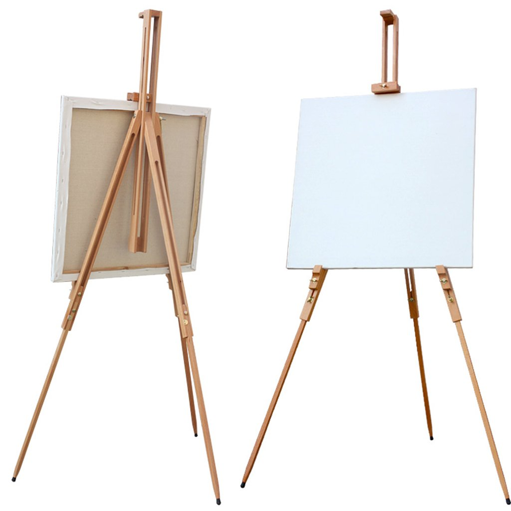 Adjustable Artist Easel Stand Solid Beech Wood Portable Collapsible Telescopic Tripod Easel Painting Drawing Canvas Sketchbook