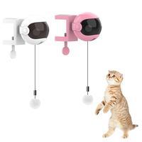 Juguete divertido para gato eléctrico, rompecabezas con bolas, varilla de resorte de elevación automática, pelota de levantamiento yo-yo, rompecabezas interactivo para mascotas inteligentes, nuevo