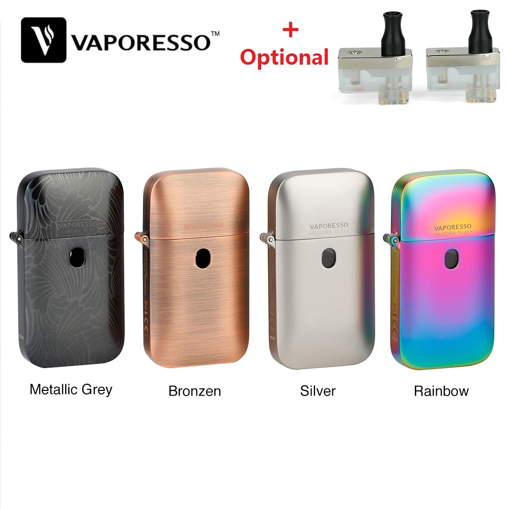 Hot Original Vaporesso Aurora Play Lighter Pod Kit With 650mAh Built-in Battery Pod System Vs Renova Zero / Vinci X / Drag Nano