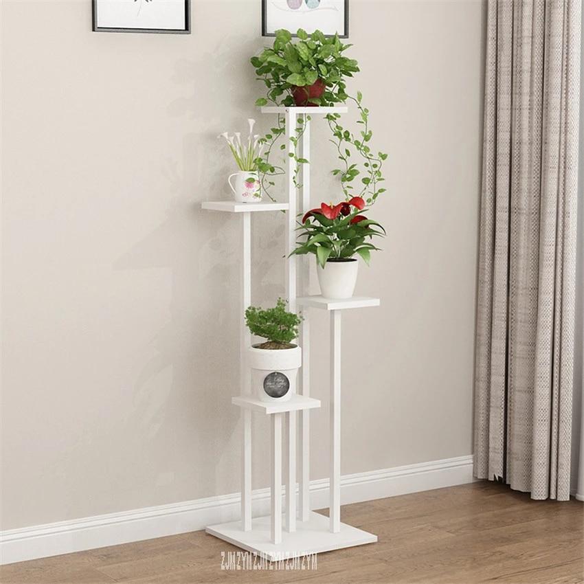 etagere pour plantes en bois zd14 tier support de pot de fleurs cadre en acier de pergola type au sol fleur pour le salon le balcon