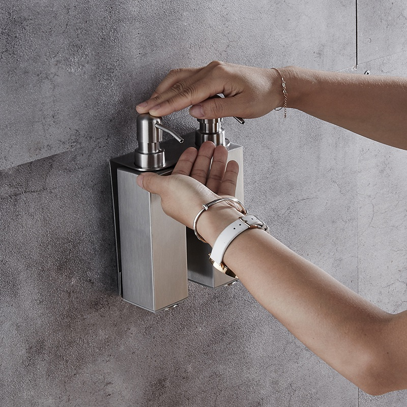 Promotion! Soap Dispenser Bathroom Accessories Stainless Steel Wall-Mounted Liquid Soap Finishing