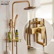 Ванная комната Водопад раковина кран щетка никель горячей и холодной воды Смеситель кран медь хром отделка ELF003
