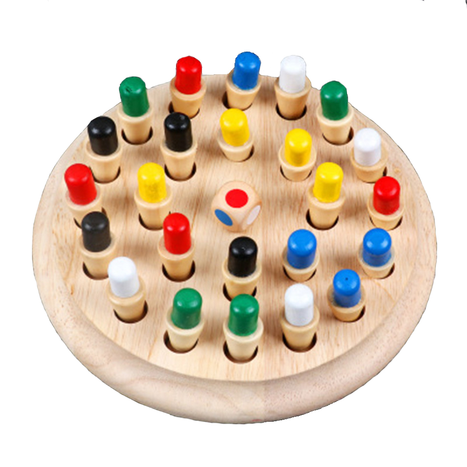 Memory Match Stick Chess Game Kids Wooden Puzzle Toy Baby Educational Color Cognitive Ability Family Party Toys For Children|Party Games|   - AliExpress
