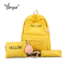 YBYT 3pcs/set preppy style women canvas backpack simple student school backpacks teenage girls composite rucksack travel bag цена