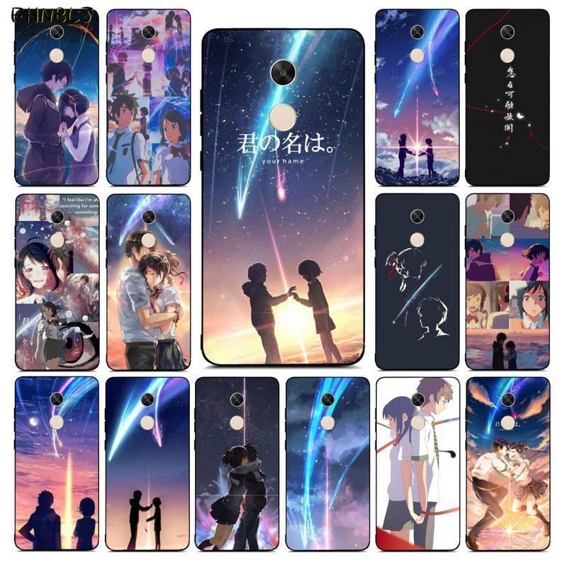 FHNBLJ japoński Anime twoje imię Kimi no Na wa kolorowy futerał Na telefon TPU dla RedMi note 9 4 5 6 7 5a 8 8pro xiaomi mi mix2s Case