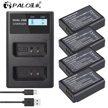 PALO 100% LCD USB cargador LP-E10 LP E10 LPE10 con batería para cámara Digital para Canon 1100D 1200D 1300D rebelde T3 T5 beso X50 X70