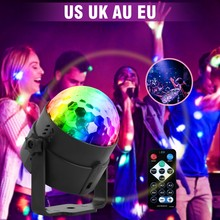 U'King UV 3 LEDs Magic Ball Disco Light Stage Lighting Effect with Remote Controller Auto Sound Control for DJ Concert Party