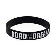 """""""Дорога в мечты"""" """"никогда не сдается"""" вдохновляющий силиконовый резиновый браслет из эластичной ленты подарок"""