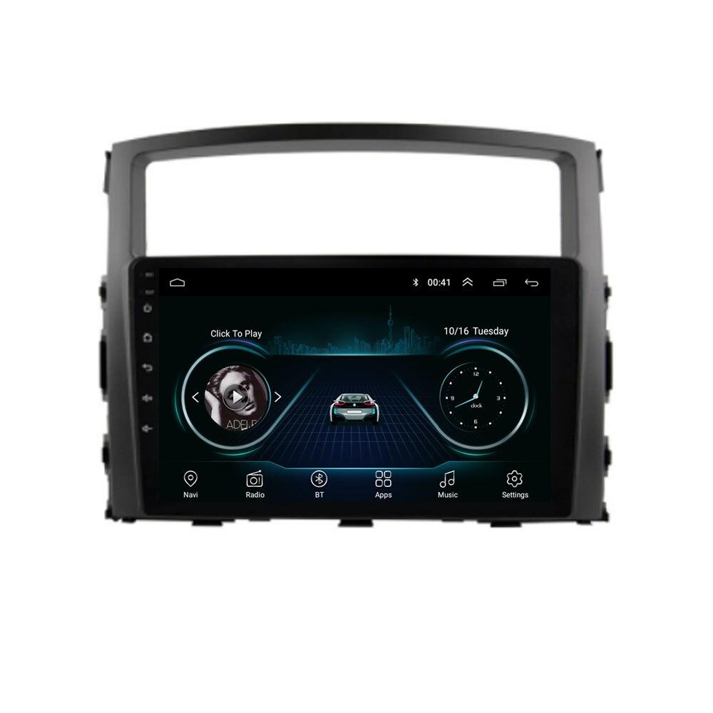 4G LTE Android 8.1 Pour Mitsubishi Pajero V93/V97 2007 2008-2017 2018 2019 Stéréo multimédia Lecteur DVD de Voiture de Navigation GPS Radio