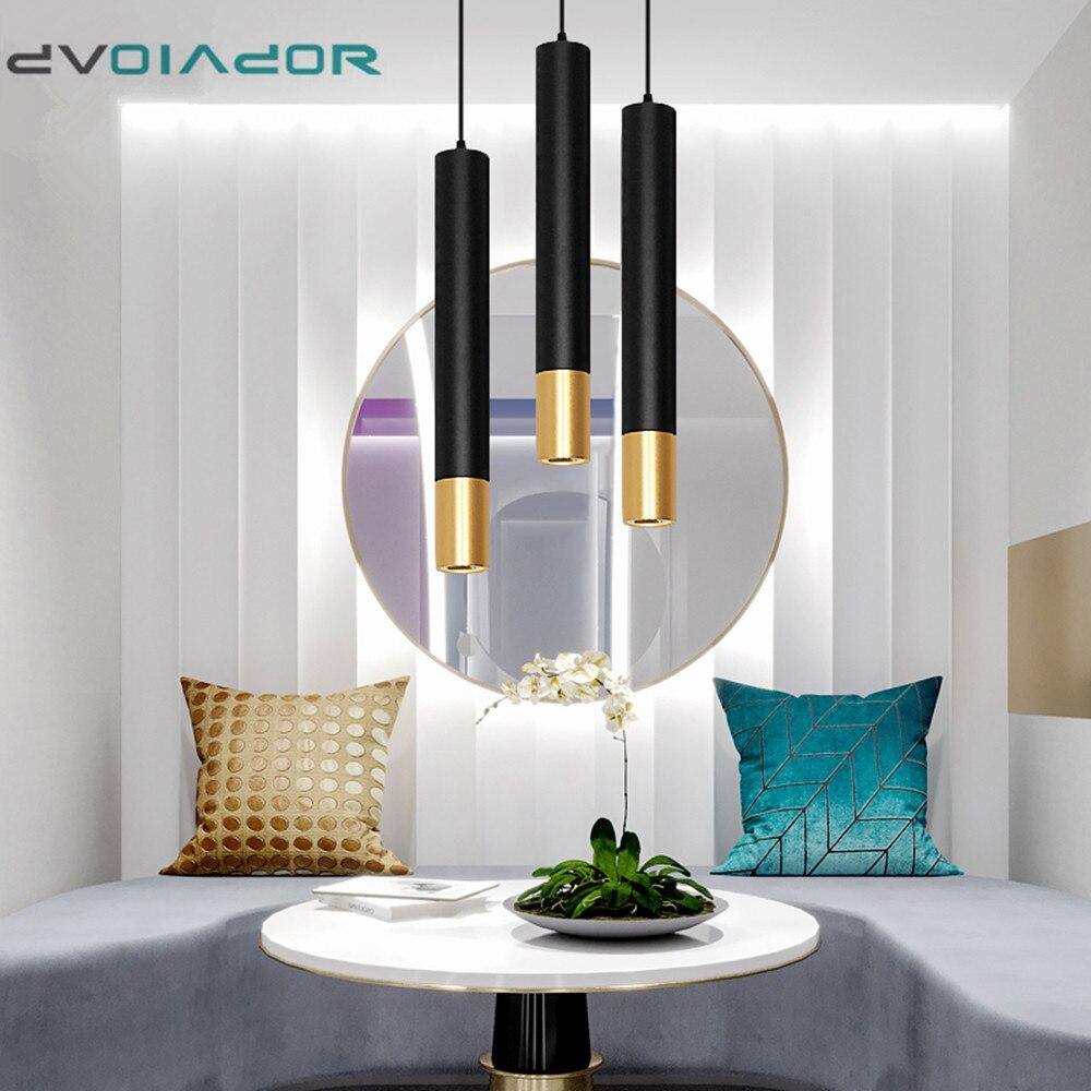 Home Modern LED Pendant Light For Living Room Dining Room Bar Hanging Lamps LED Pendant Lamp Cylinder Pipe Kitchen Lamp