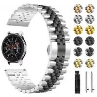 Edelstahl Strap für Samsung Galaxy Uhr Aktive 2 40mm 44mm Band Armband für Getriebe Sport/S2 s3 42/46mm 20mm 22mm Armband