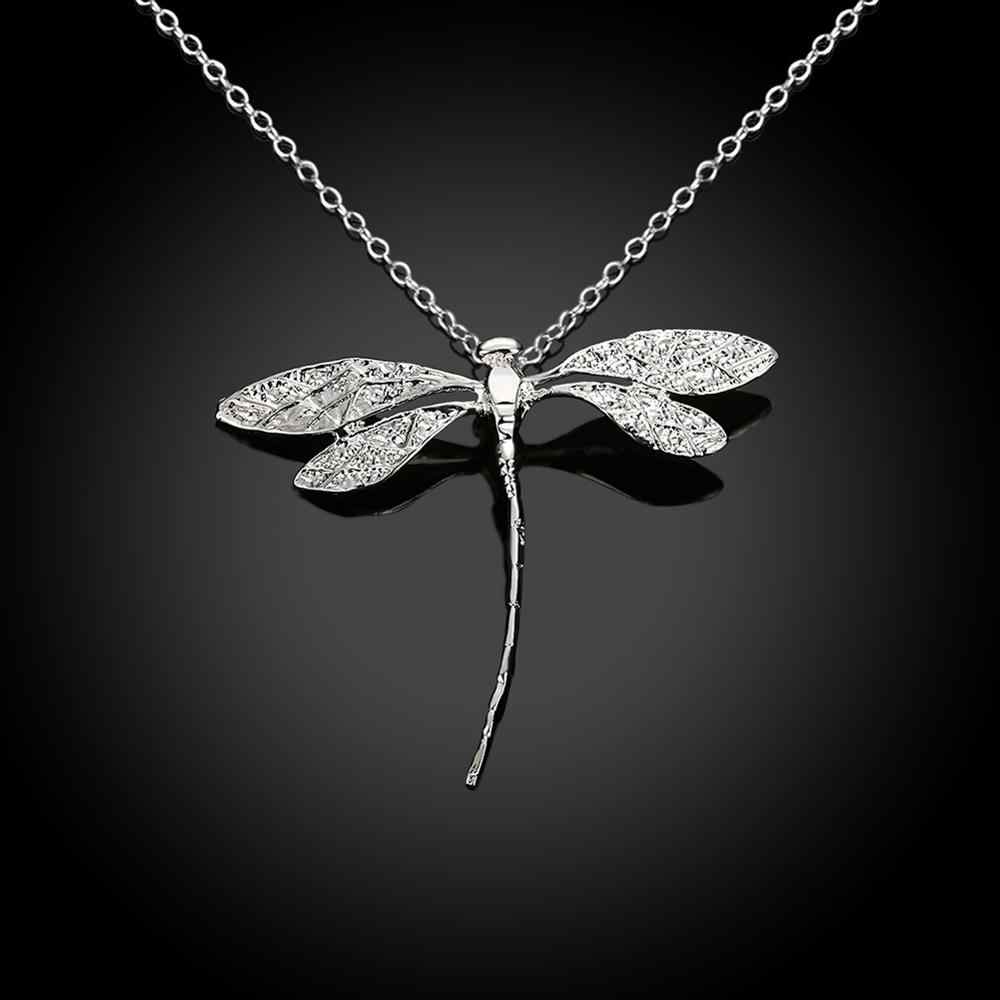 INALISแฟชั่นสร้อยคอเงินCreative Dragonflyสร้อยคอผู้หญิงโรแมนติกครบรอบPartyของขวัญเครื่องประดับFineแนวโน้ม2020