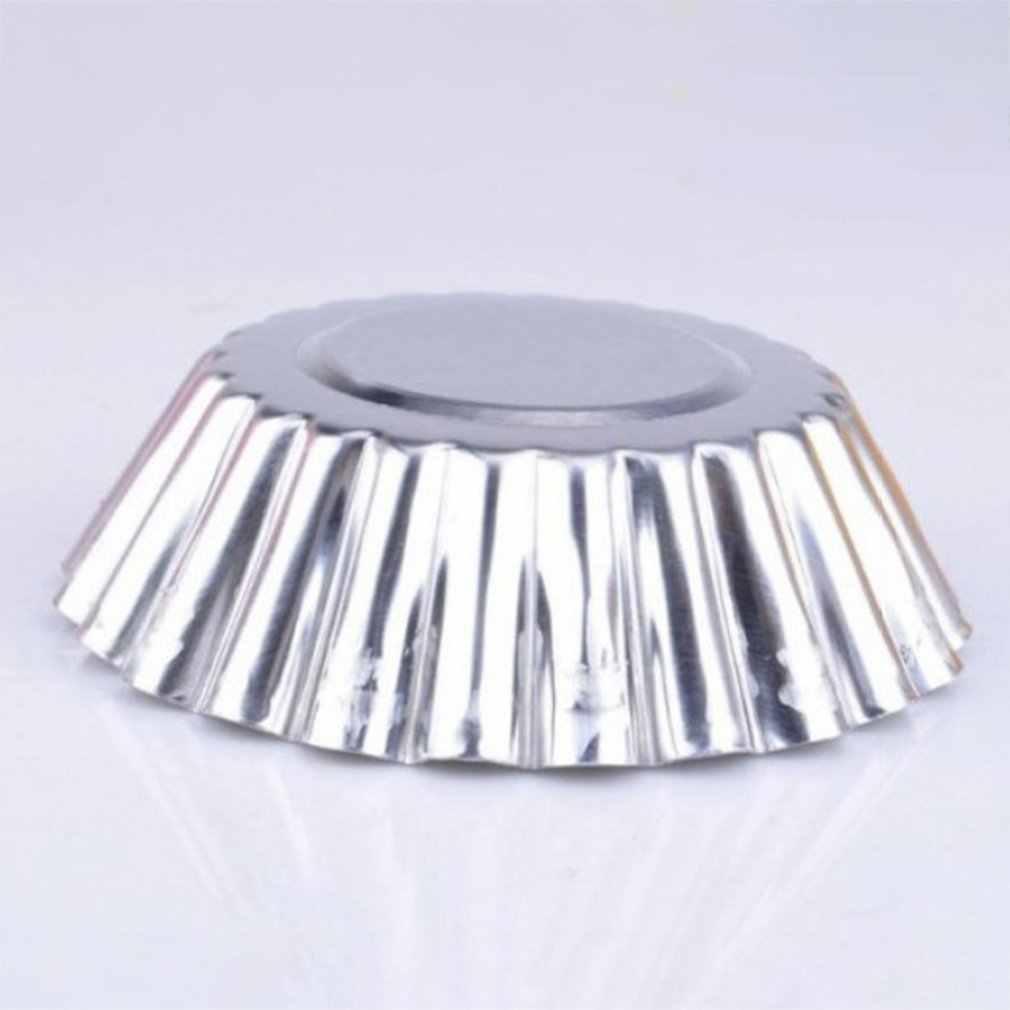 ベーキングアルミ合金厚いレースエッグタルト型ベーキングツールカップケーキ金型ラウンドエッグタルトフルーツタルト型