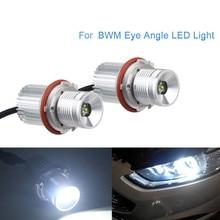 цена на 2*20W Car LED Angel Eyes light Headlight Lamp white Fog lights CREE LED Chips for Chip for BMW E39 E53 E60 E61 E63 E64 E65 E66