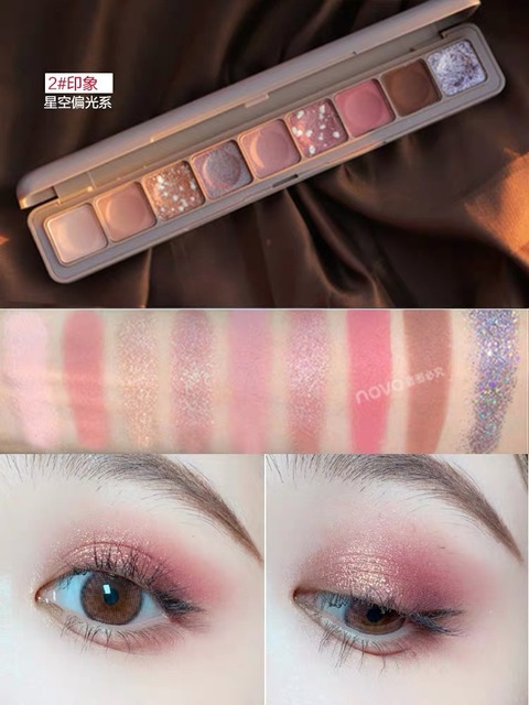 NEW Fashion Eyeshadow Palette 9 Colors Matte Eyeshadow Palette Glitter Eye Shadow Makeup Nude Beauty Make up set Cosmetics 2