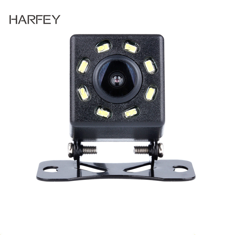 Harfey 648*488 8 LED Display Plastic Pixels Wire HD Universal Car Rearview Camera Reverse Parking Backup Monitor Kit CCD CMOS