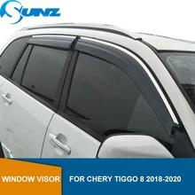 Chery tiggo 8 2018 2019 sun shade awnings 셸터 가드 액세서리 sunz 용 자동차 사이드 윈도우 디플렉터
