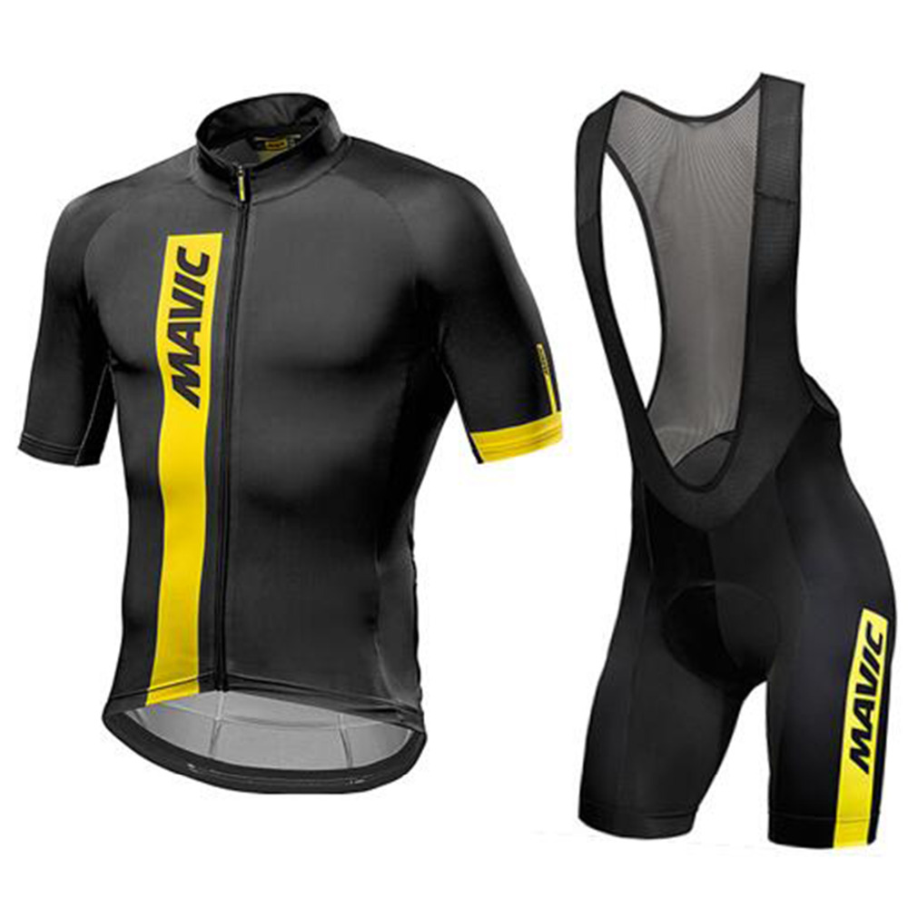 <font><b>Mavic</b></font> 2018 pro team men's summer breathable <font><b>short</b></font> sleeve cycling jersey kit ropa ciclismo bicycle bike clothing <font><b>bib</b></font> <font><b>shorts</b></font> set image