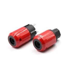 Image 4 - Paar Audio Grade Rhodium Eu Schuko Stekker + Iec Connector Plug Diy Netsnoer