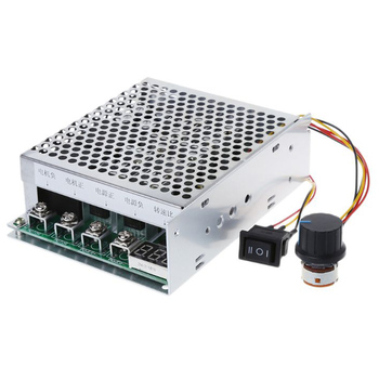 DC 10-55V 100A Motor Speed Controller Reversible PWM Control Forward Reverse W329 hot sale dc 12 48v 400w aluminum alloy cnc spindle motor er11 mach3 pwm speed controller mount 3 175mm