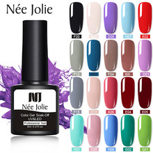 NEE JOLIE 8ml Pure Colors Gel Nail Polish 48 Colors Nails Soak Off Gel Polish UV Gel Nail Polish Lacquer Varnish Nail Art Design