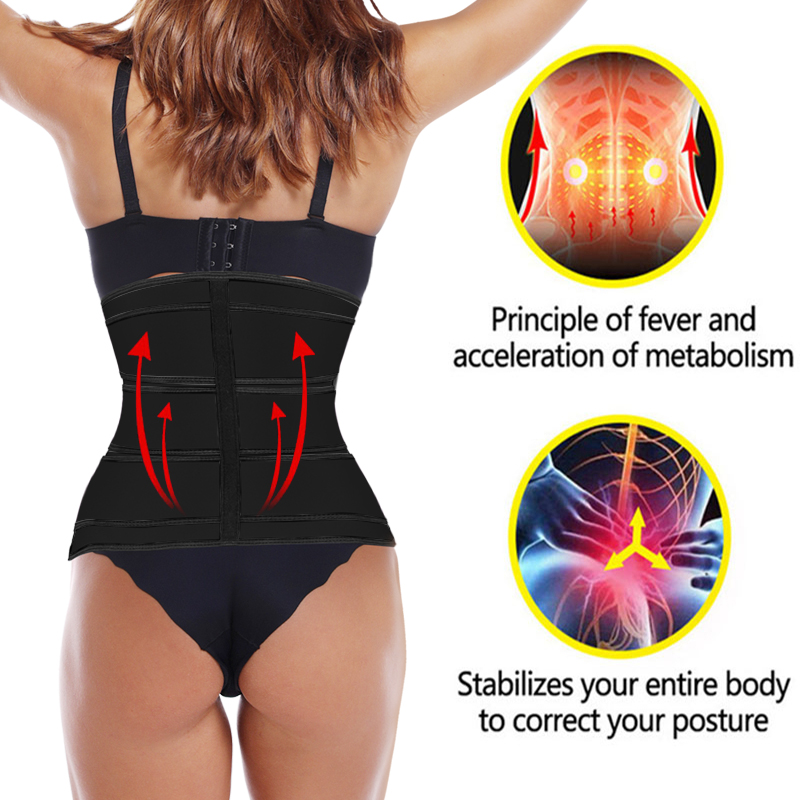 Waist Trainer Slimming Belt Body Shaper Slim Belt For Women Tummy Control Modeling Strap Corset Waist Cincher Trimmer Girdle-2
