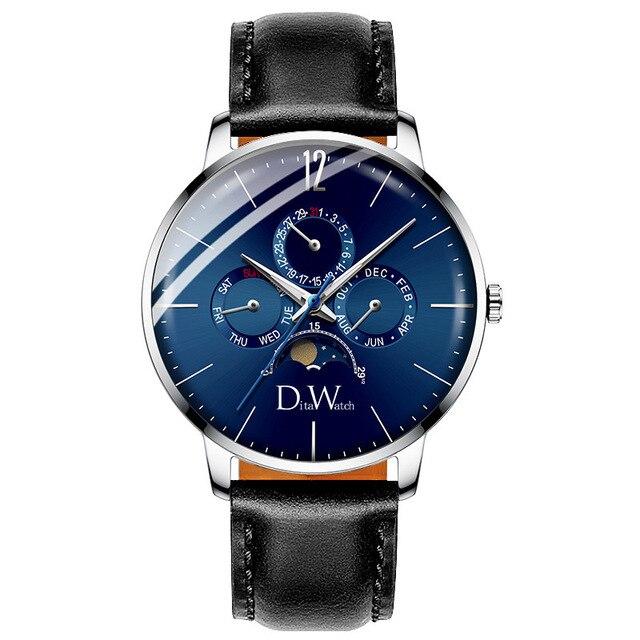 2019 New Design Watch Luxury Men's Watches Stainless Steel Blue Personality Date Month Quartz Wristwatches masculino relogio | Fotoflaco.net