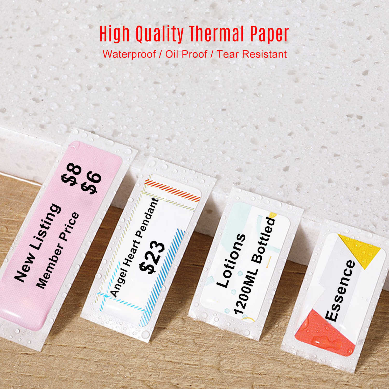 La Stampa di Etichette di Carta termica Prezzo Nome Etichette Impermeabile Resistente Allo Strappo 12*40mm 160pcs/roll per la Casa file libro Supermercato