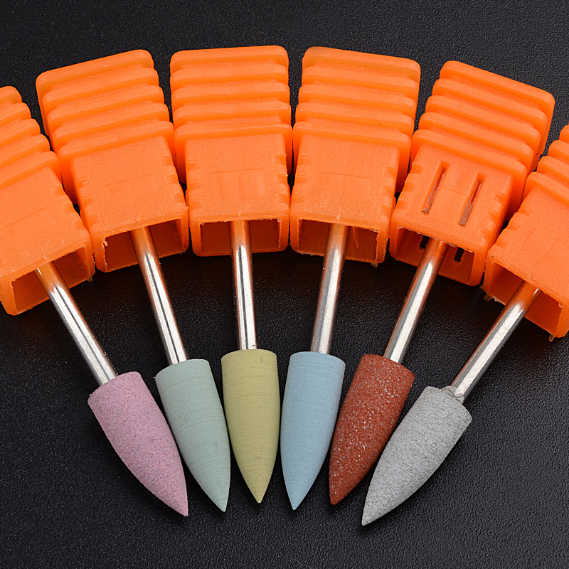 1PCS SIlicone Nail Drill Bits Milling Cutter For Removel Gel Polish Varnish Electric Manicure Nail Art Tools