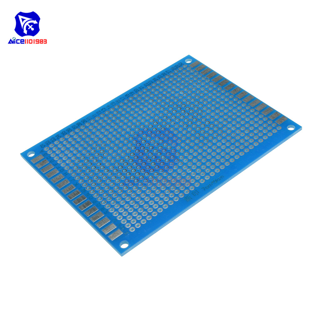 diymore Universal PCB Board 70x90 mm 2.54mm Hole Pitch Prototype Paper Printed Circuit Panel 7x9 cm Single Sided Board