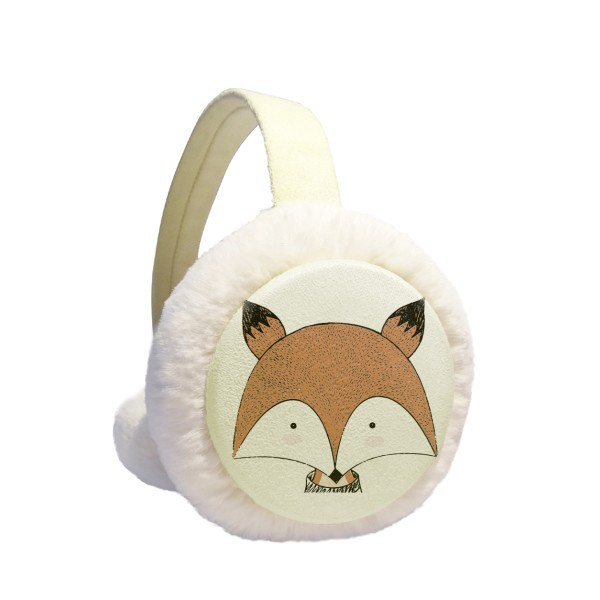 Simplicity Style Immature Fox Winter Earmuffs Ear Warmers Faux Fur Foldable Plush Outdoor Gift