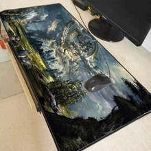 MRGBEST 90x40MM Fantasy Landscape Large Gaming Mouse Pad Lockedge Pc Keyboard Mousepad for Laptop Computer Notebook Desk Mat