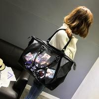 New Waterproof Fabric Travel Bag Tide Badge Short distance Travel Bag Boarding Business Bag Nylon Fitness Yoga Portable Bag