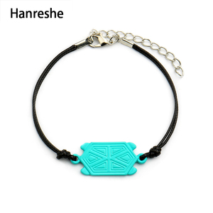 Hanreshe tartaruga joaninha pulseira com corda tartaruga joaninha anime cosplay jóias acessórios para pulseira verde feminino/meninas