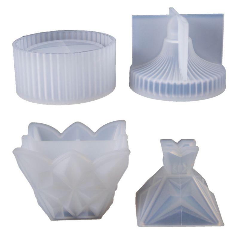 Round Stripe Storage Jewelry Box DIY Crystal Epoxy Resin Mold Silicone Storage