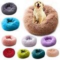 Super Weich Hund Bett Runde Waschbar Lange Plüsch Hundehütte Katze Haus Samt Matten Sofa Für Hund Chihuahua Hund Korb pet Bett-in Häuser  Hundehütten & Einzäunungen aus Heim und Garten bei