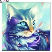 5d diy Алмазная картина кошка животные полный квадрат и круглая